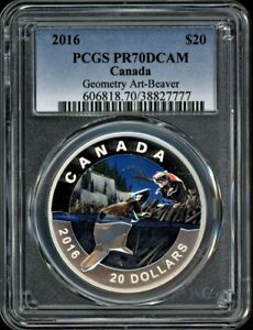 Click now to see the BUY IT NOW Price! CANADA $20 2016 PCGS PR70DCAM GEOMETRY IN ART: BEAVER