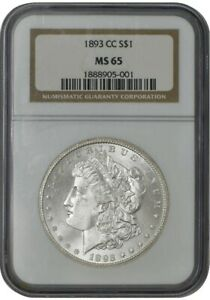 Click now to see the BUY IT NOW Price! 1893 CC MORGAN DOLLAR $ MS65 NGC 942070 1