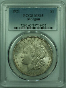 1921 MORGAN SILVER DOLLAR $1 COIN PCGS MS 65 LIGHTLY TONED  29