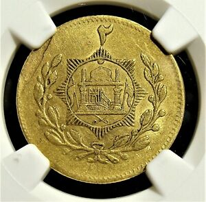 Click now to see the BUY IT NOW Price! AFGHANISTAN: MINT ERROR OBVERSE LAMINATION GOLD 2 TILLAS SH 1298  1919  AU58 NGC
