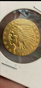 1908 $5 GOLD INDIAN HEAD