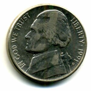 1991 P JEFFERSON NICKEL   US AMERICAN OLD NCIE 5 CENT COINFIVE 1650