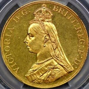 Click now to see the BUY IT NOW Price! 1887 QUEEN VICTORIA 5 FIVE POUND GOLD COIN PCGS MS62