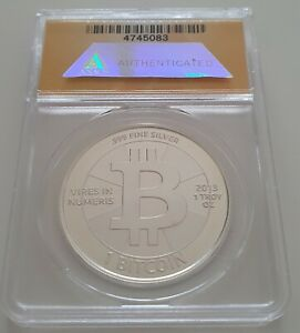 Click now to see the BUY IT NOW Price! 2013 SILVER CASASCIUS COIN / UNREDEEMED / ANACS MS 68 / ULTRA  / BTC