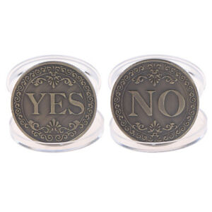 1PC YES OR NO COMMEMORATIVE COIN CHALLENGE COLLECTIBLE COINS COLLECTION ART