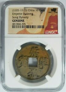 Click now to see the BUY IT NOW Price! EMPEROR HUIZONG 1101 1125 AD NGC 10 CASH CHINA NORTHERN SONG DYNASTY ZHAO JI