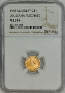 1903 $ GOLD MCKINLEY DOLLAR LOUISIANA PURCHASE MS67  NGC 942515 4