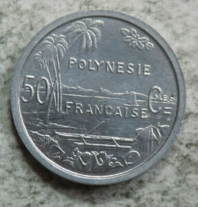 FRENCH POLYNESIA 1965 50 CENTIMES COIN