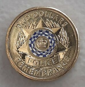 AUSTRALIAN $2 2019 POLICE REMEMBRANCE COIN CIRCULATED