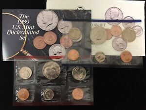 1989 P&D 10 COIN UNCIRCULATED MINT SET IN ORIGINAL US MINT PACKAGING