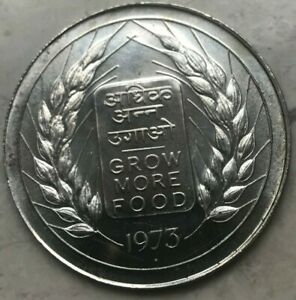 Click now to see the BUY IT NOW Price! 1973 INDIA 20 RUPEES SILVER   FAO GROW MORE FOOD
