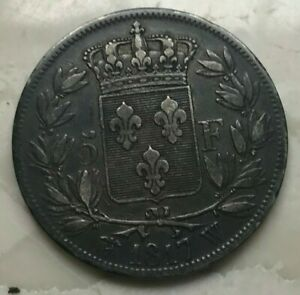 Click now to see the BUY IT NOW Price! 1817 W FRANCE 5 FRANCS   NICE SILVER