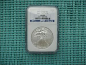 2009 SILVER EAGLE NGC EARLY RELEASES MS69