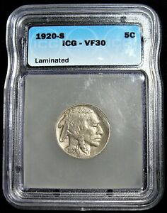 1920 S BUFFALO NICKEL 5C VF30 ICG.
