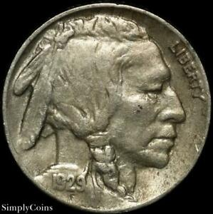 1929 S INDIAN HEAD BUFFALO NICKEL   XF LY FINE   US COIN A SKU 1615