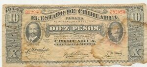 D4222   CURRENCY  10 DIEZ PESO CHIHUANUA MEXICO