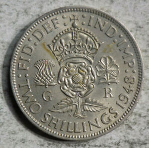 GREAT BRITAIN 1948 2 SHILLINGS COIN