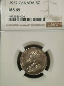 1932 NGC MS65 CANADA FIVE CENTS  4925586 002