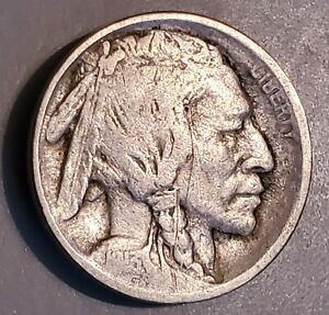 BARGAIN BUFFALOS  1913 P TYPE 1 BUFFALO NICKEL IN GOOD CONDITION