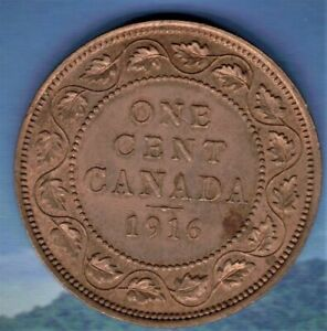 1916 CANADA  LARGE CENT MS 62/3 RED