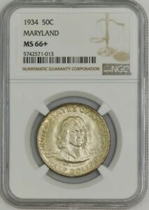 Click now to see the BUY IT NOW Price! 1934 MARYLAND 50C MS66  NGC 943089 20