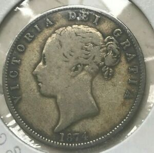 Click now to see the BUY IT NOW Price! 1874 GREAT BRITAIN 1/2 HALF CROWN   SILVER