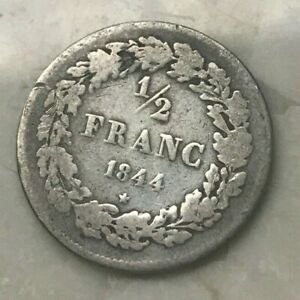 Click now to see the BUY IT NOW Price! 1844 BELGIUM 1/2 FRANC   SILVER