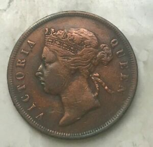 Click now to see the BUY IT NOW Price! 1887 STRAITS SETTLEMENTS CENT   COPPER
