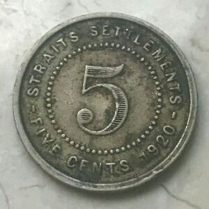 Click now to see the BUY IT NOW Price! 1920 STRAITS SETTLEMENTS 5 CENTS