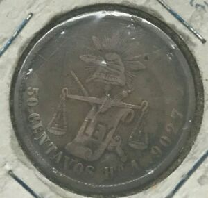 Click now to see the BUY IT NOW Price! 1880 HO A MEXICO 50 CENTAVOS   HERMOSILLO MINT