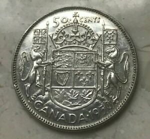 Click now to see the BUY IT NOW Price! 1950 CANADA 50 CENTS   SILVER AU