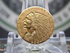 1909 $2.50 GOLD INDIAN QUARTER EAGLE 1  EAST COAST COIN & COLLECTABLES INC.