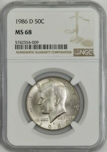 Click now to see the BUY IT NOW Price! 1986 D KENNEDY HALF 50C MS68 NGC 943288 34