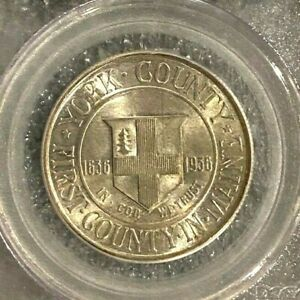 1936 YORK COMMEMORATIVE HALF DOLLAR PCGS MS65     NICE LUSTER