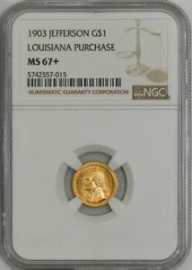 Click now to see the BUY IT NOW Price! 1903 $ JEFFERSON GOLD LOUISIANA PURCHASE DOLLAR MS67  NGC 943194 39