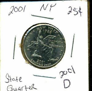 2001 D BU/UNC NY NEW YORK STATE QUARTER UNCIRCULATED MINT STATE COIN C1335