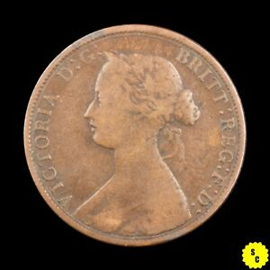 1861 NOVA SCOTIA ONE CENT VG CONDITION LARGE BUD VARIETY CANADA PENNY KM 8.2