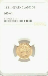 Click now to see the BUY IT NOW Price! 1881 NEWFOUNDLAND $2 NGC MS61