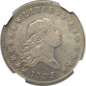 1795 FLOWING HAIR HALF DOLLAR 2 LEAVES O 116 50 CENTS NGC VF 20