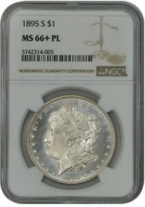 Click now to see the BUY IT NOW Price! 1895 S MORGAN DOLLAR $ MS66  PL PROOF LIKE NGC 942093 1