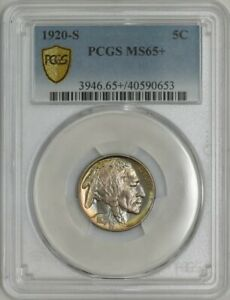 Click now to see the BUY IT NOW Price! 1920 S BUFFALO NICKEL 5C MS65  PCGS SECURE 943081 8