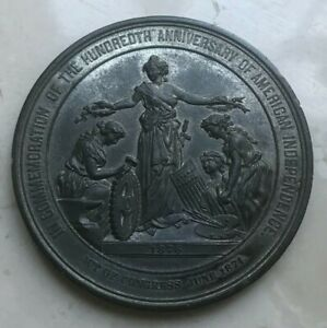 Click now to see the BUY IT NOW Price! 1876 UNITED STATES CENTENNIAL EXPOSITION MEDAL   WHITE METAL   ONLY 550 MINTED