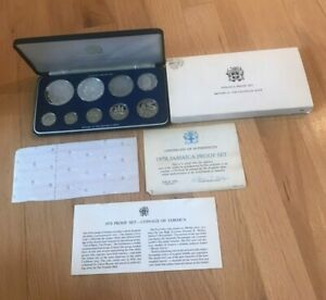 Click now to see the BUY IT NOW Price! 1978 JAMAICA COIN PROOF SET   WITH SILVER    ORIGINAL PACKAGING AND COA