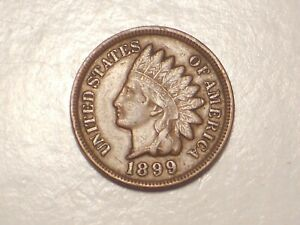 1899 INDIAN HEAD CENT  VF/XF & ATTRACTIVE