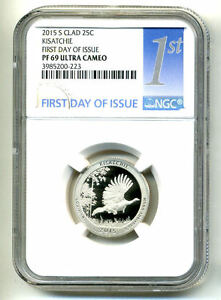 NGC PF69 ULTRA CAMEO 2015 S PROOF KISATCHIE NATIONAL PARK QUARTER COIN US285