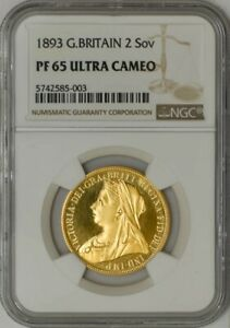 Click now to see the BUY IT NOW Price! 1893 GREAT BRITAIN 2 SOVEREIGN PF65 PR65 ULTRA CAMEO NGC 943346 7
