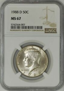 Click now to see the BUY IT NOW Price! 1988 D KENNEDY HALF 50C MS67 NGC 943288 35