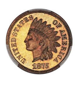 Click now to see the BUY IT NOW Price! 1875 INDIAN HEAD PCGS PROOF 67 RB   HIGHEST GRADE EVER BY PCGS OR NGC   POP 1/0