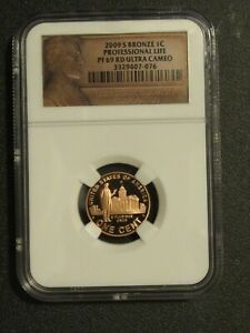 2009 S LINCOLN CENT PROFESSIONAL LIFE NGC PF 69 RD ULTRA CAMEOPROOF PENNY