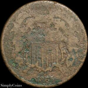 1865 TWO 2 CENT PIECE   FILLER   CIVIL WAR TYPE US COIN A SKU 281